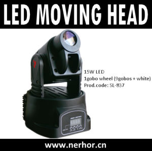 15W Mini LED Gobo Moving Head with RGB Color Mixing DJ Disco Party Pub Stage Light (SL-837)