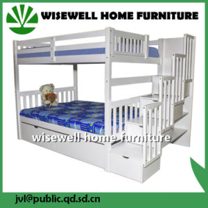 Solid Pine Wood Triple Bunk Bed (WJZ-B12) pictures & photos
