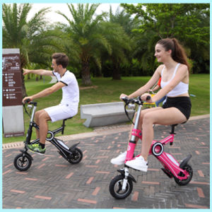 "10"" 36V 250W Lithium Battery Chainless Mini Pocket Bike Folding Electric Bicycle pictures & photos"