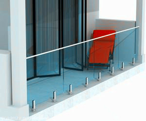 Frameless Tempered Glass Balustrade with Stainless Steel Spigots pictures & photos