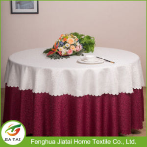 Made in China Round Wedding Decoration Table Cloth