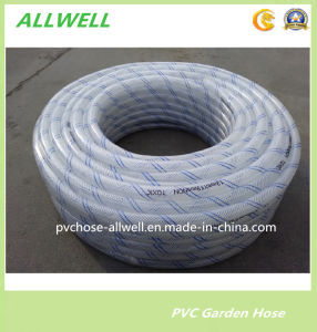 Transparent PVC Plastic Water Hose Fiber Braided Garden Hose Pipe pictures & photos
