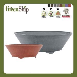 Eco-Friendly Plastic Decorative Big Round Flower Pot/Garden Planter