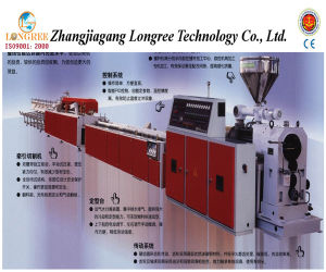 PVC/UPVC Skirting/Panel/Wiring Duct Extruder, PVC Profile Production Line pictures & photos