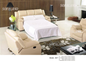 Foldable Leather Sofa Bed 814# pictures & photos