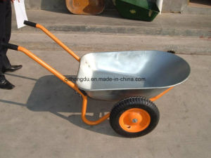 Double Wheel High Load Capacity Construction Wheel Barrow for Builders pictures & photos