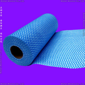 Spunlace Nonwoven Rolled Cloth for Household & Office Clean-up pictures & photos