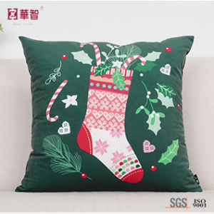 Customized Printing Decorative Cushion Cover for Christmas pictures & photos