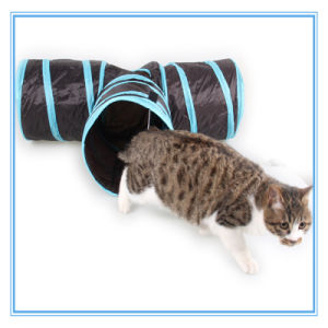 Pet Product Toy Foldable Ring Paper 3 Direction Cat Tunnel / Channel Cat Toy pictures & photos