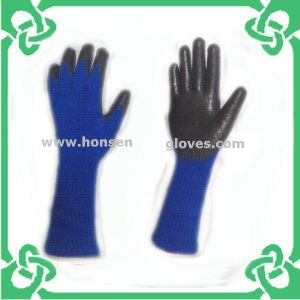 Long Sleeve Latex Coated Gloves in Work Glove