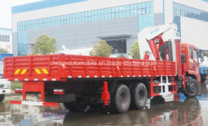 6X4 Heavy Duty Folding Arm Crane 250 HP Lorry Truck with Crane pictures & photos