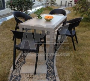 Plastic Outdoor Dining Set in Wicker and Rattan Look pictures & photos