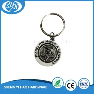 Dia 35mm Spinning Metal Keychain for Sale pictures & photos