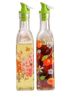 Flower Decal Glass Bottle Storage Kitchen Glass Jar 3 Sets pictures & photos