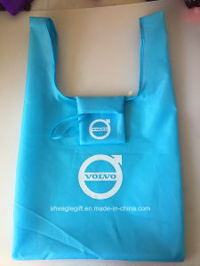 Vest Shape Polyester Shopping Bag Foldable with a Drawstring Pouch Inside pictures & photos
