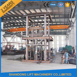 Warehouse Goods Lift Vertical Hydraulic Guide Rail Lift pictures & photos