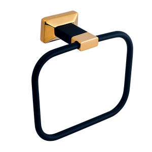 Sanitary Ware Hardware Bathroom Accessories Towel Ring in Plated Gold and Painted pictures & photos