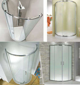 6mm 8mm 10mm Curved Toughened Bathroom Door Glass pictures & photos