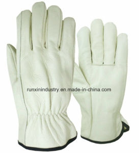 Natural Color Cow Leather Driver Gloves pictures & photos