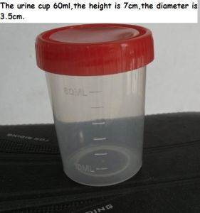 Disposable PP Material Hospital 30ml/40ml/60ml/120ml Urine Container pictures & photos