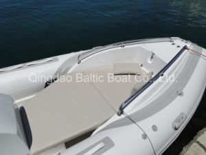 Rib Sprots Fishing Fiberglass Rigid Inflatable Motor Boat Yacht 580 with Center Console pictures & photos
