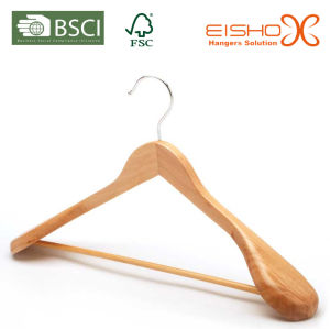 Wooden Sweater Hanger with Wide Shoulder (MC039) pictures & photos