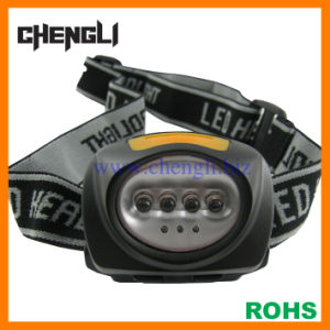 Chengli 4white LED+3red LED Headlamp with 3PCS AAA Size Battery (LA263) for Reading
