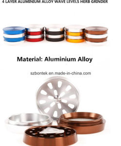 Newest 4 Pieces Aluminum Alloy Weed Herb Grinder for Daily Use pictures & photos