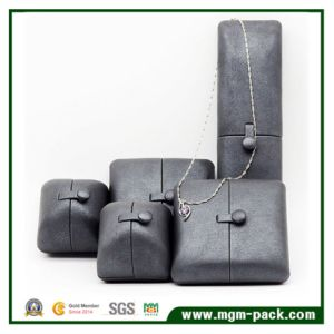 Customized PU Leather Jewelry Box with Double Open pictures & photos