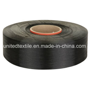 Polyester Dope Dyed Black Yarn with 600d/192f Round Bright FDY pictures & photos
