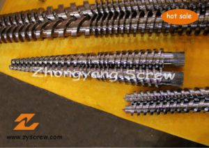 Conical Twin Screw Barrel Double Screw Barrel Extrusion Screw Barrel pictures & photos