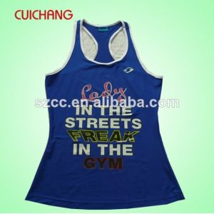 Singelt, Tank Top, Wholesale Cotton Silk Screen Print Custom Design Gym Singlets Bx-035 pictures & photos