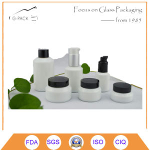 White Ceramic Glass Cosmetics Jar and Pefume Bottle pictures & photos
