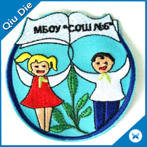 75% Embroidered 9 Colors High Density Children′s Arm Patch pictures & photos