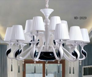 Modern Lampshade Resin Pendant Light White Chandeleir Md2029