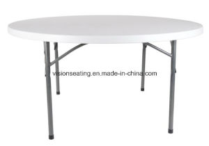 Plastic Folding Round Wedding Party Outdoor Dining Table (5302) pictures & photos