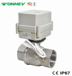 AC220V1 1/4 Inch Stainless Steel Motorized Ball Valve Approved NSF61 pictures & photos
