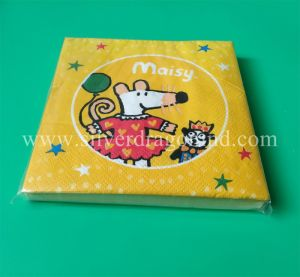 Cartoon Printed Paper Napkins for Birthday Party Decorated pictures & photos
