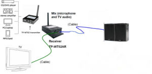 2.4 GHz Wireless Hifi Transmitter and Mixied Audio Receiver System pictures & photos