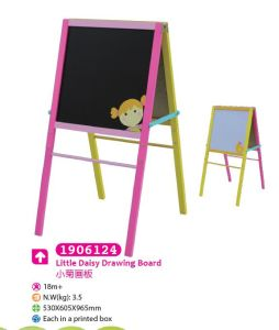 Wooden Easel with Magnetic Whiteboard and Blackboard for Children for Kids pictures & photos