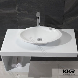 Modern Solid Surface Resin Stone Counter Basin pictures & photos