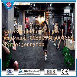 Non-Slip Anti-Fatigue Resilient Durable Crossfit Fitness Gym Rubber Flooring 1m*1m pictures & photos