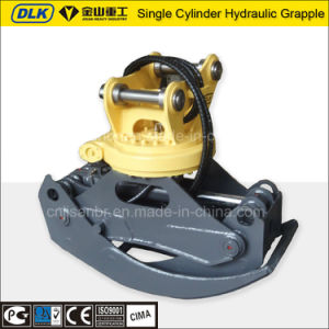 Excavator Hydraulic Rotating Grapple with Single Cylinder Light Weight pictures & photos