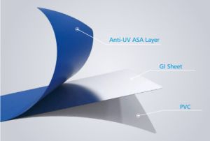ASA Coated Metal Sheet Plus PVC Roofing Sheet pictures & photos