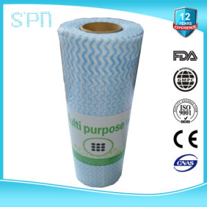 Big Roll of Nonwoven Fabric Multi Purpose Cleaning Wipe/Tissue/Cloth pictures & photos