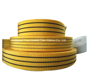 10-100mm Yellow Polyester Hoisting Safety Webbing pictures & photos