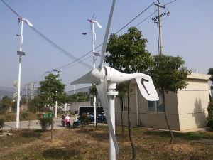 Windmill Generator and Solar Panel Hybrid System for Home Use pictures & photos