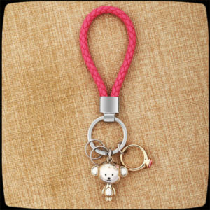 New Design Cute Faux Leather Cord Fashion Key Chain