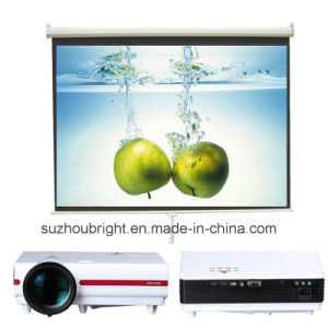 Education and Home Using LED LCD Projector and Projection Screen