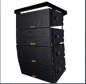 "Double 10"" 600W Powerful Line Array Speaker pictures & photos"